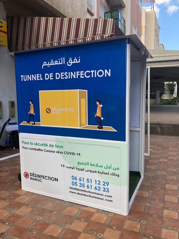 Installation Tunnel de désinfection